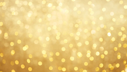 Beautiful golden bokeh background