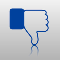 Dislike Icon. Thumb Down, Hand or Finger Illustration .Symbol of Negative. Rate Choice for Social Media, Web and Apps. Vector illustration