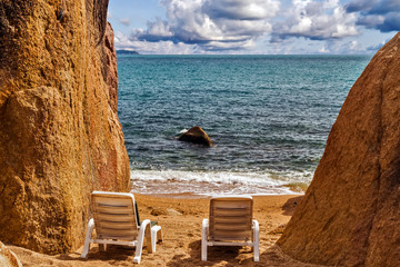 Tropical beach sand, summer holiday