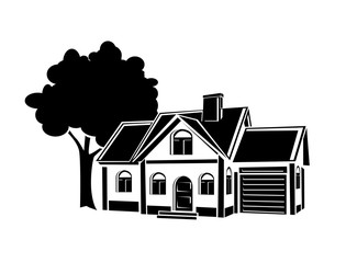 Vector private house.symbol of the house for all kinds of advertising resources