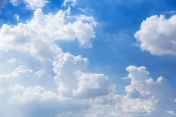 sky of faith and believe meditation beautiful cloud with blue sky background