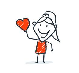 Strichfiguren - Frauchen: Herz, Liebe, Date. (23)