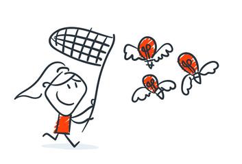 Strichfiguren - Frauchen: Fangen, gute Ideen, Wettbewerb. (25)