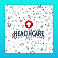Medical background. Health care. Vector medicine illustration.