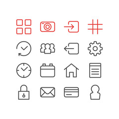 Vector Illustration Of 16 Annex Icons. Editable Pack Of Gear, Document, Payment And Other Elements.
