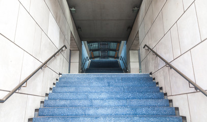 Treppenaufgang zum Bahnhof