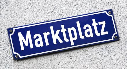 Markplatz Emailleschild