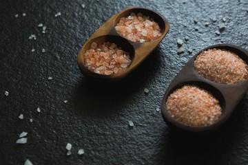 Sea salt in a tray