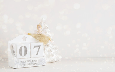 Christmas calendar - 7 sleeps until christmas