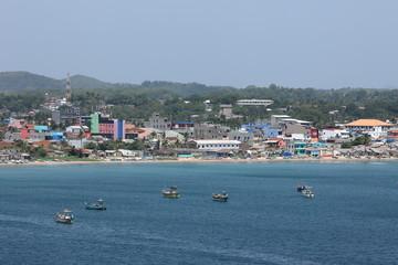 Die Stadt Trincomalee in Sri Lanka