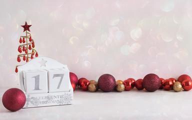 Christmas calendar - 17 sleeps until christmas
