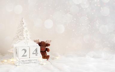 Christmas calendar - 24 sleeps until christmas