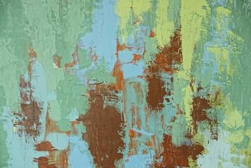 цветной узор масляными красками на куске бумаги