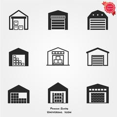 Warehouse icon set