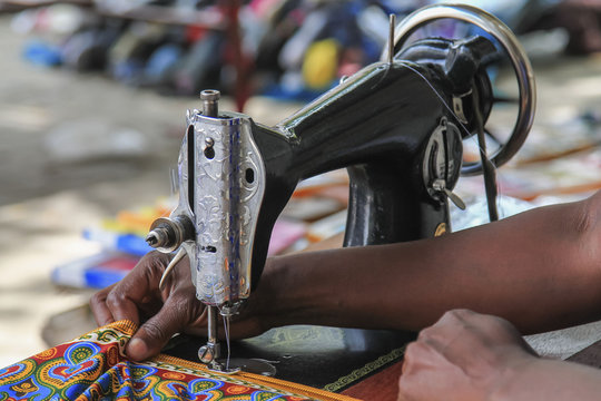 Sewing in Mozambique