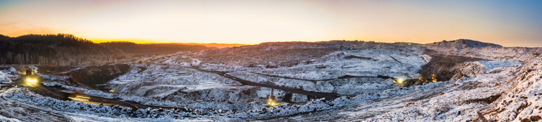 coal cut, winter view