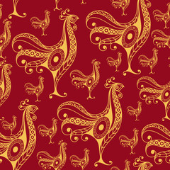 Seamless pattern with lace cock 25