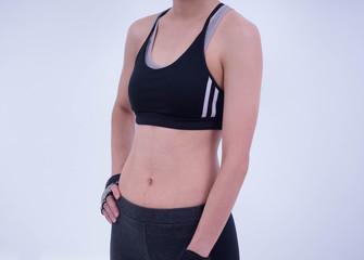 Asian female fitness model, Beautiful slim woman body
