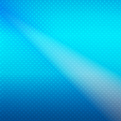 Blue glowing halftone background. Vector abstract background