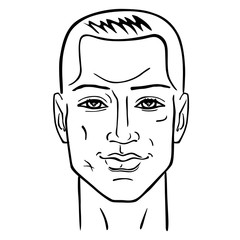 Man hairstyle head