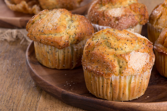 Lemon Poppy Seed Muffin Closeup