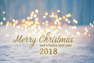 Merry Christmas and Happy New Year 2018   -   Greeting Card