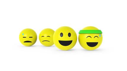 Smileys beim Sport