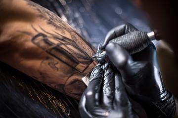 Professional tattoo artist