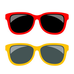 Sun glasses vector icon