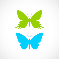 Butterfly vector silhouette icon