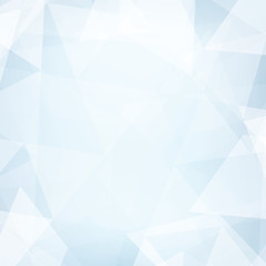 Abstract light blue gelid background textured by subtle triangles. Simple vector pattern