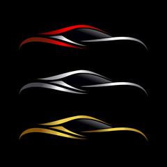 Elegant clean and simple car logo design template vector