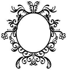 Round Filigree Frame