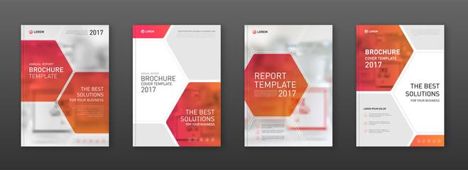 Medical brochure cover template, flyer design layout.