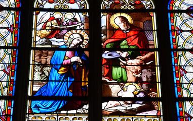 Auvers sur Oise , France - august 14 2016 : Notre Dame de l Assomption church