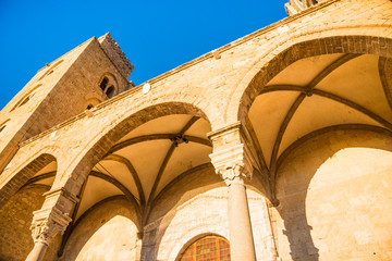The Cathedral of Cefalu, Duomo di Cefalu, Sicily, Italy.