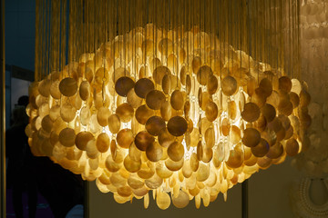 Chandelier made of sea shells