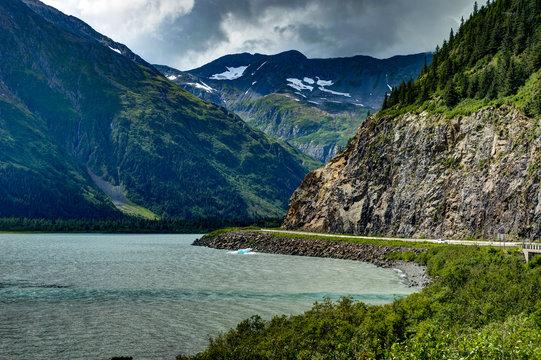 Whittier Glacier view in Alaska United States of America