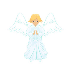 Angel on white background