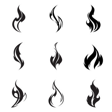 Fire flame set.