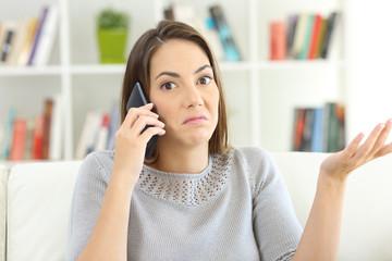 Confused customer calling custom service