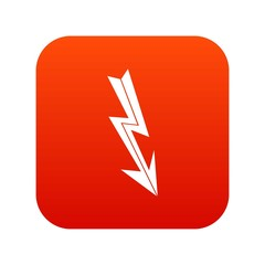 Arrow lightning icon digital red