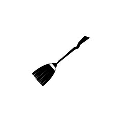 halloween broomstick icon