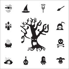 Halloween Tree icon. Set of Halloween icons