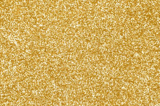 Gold glitter texture or golden sparkle background