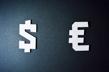 dollar and euro currency symbols template