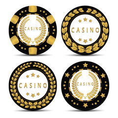Vector illustration logo for poker chip casino