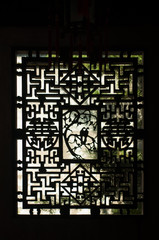 Chinese window silhouette