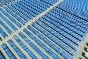 solar power energy plant aerial view
