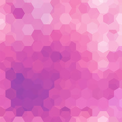 Background made of pink hexagons. Square composition with geometric shapes. Eps 10